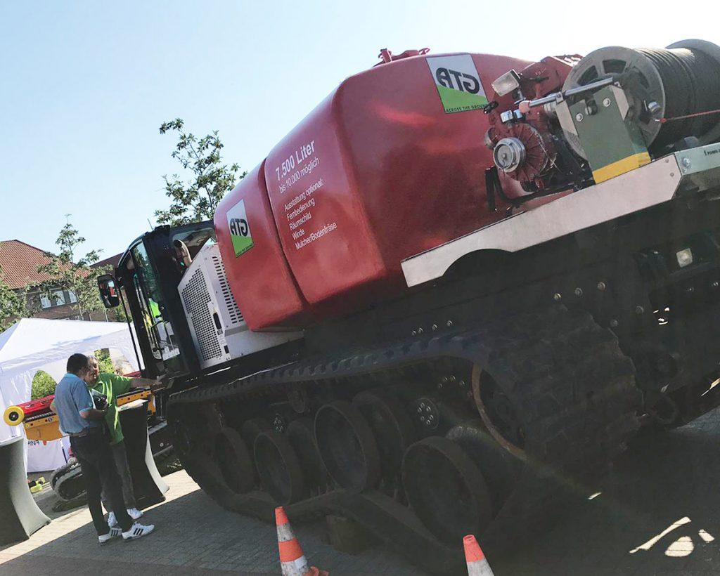 ATG Across The Ground Wipfelfeuer 2019 Prinoth Panther Feuer löschen